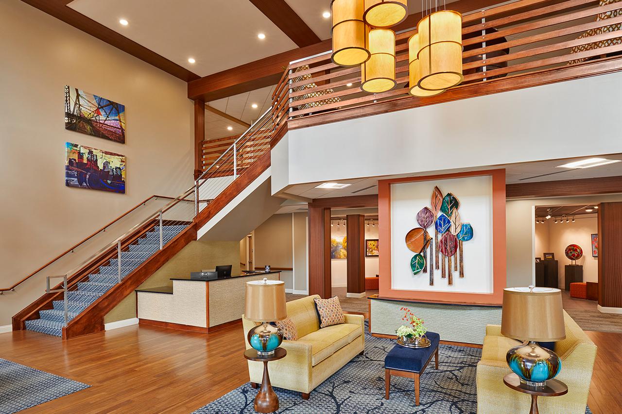 Refreshed open concept room designed for Senior Living