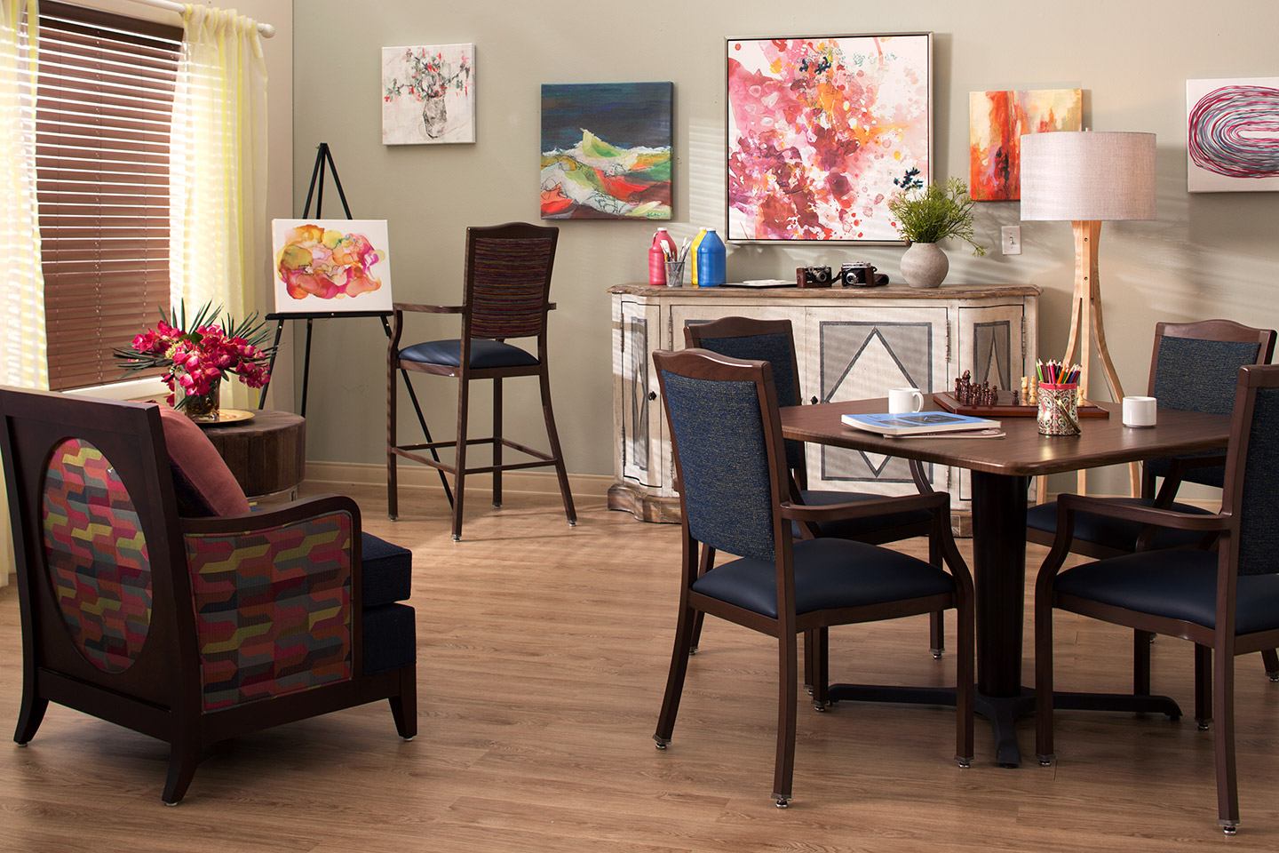 Art room for senior living