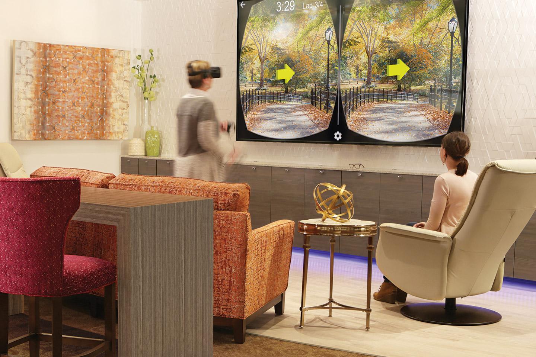 Senior Living technology room