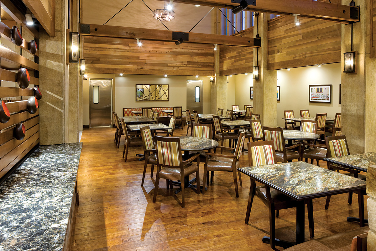 Dining room for Senior Living