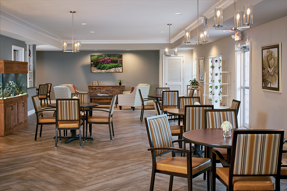 Dining area at Woodcrest at Blakeford