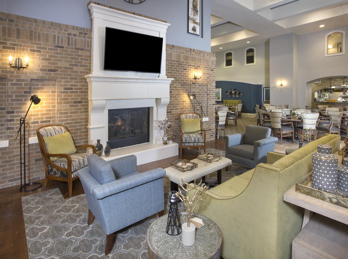 Living room area at Woodcrest at Blakeford