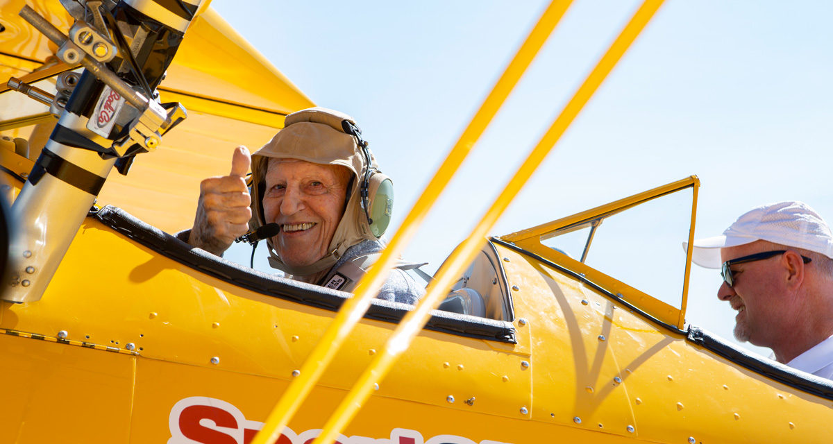 Veterans Own the Sky as The Spirit of Wisconsin Biplane Makes its Debut
