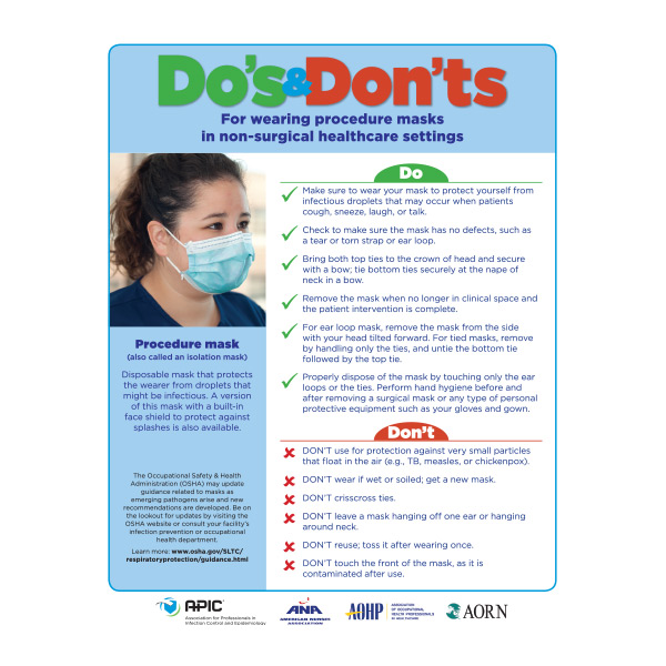 APIC Do's and Don'ts of Masks