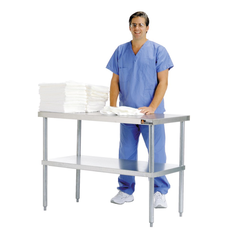 Laundry Sorting Table with Housekeeping Staff in Uniform