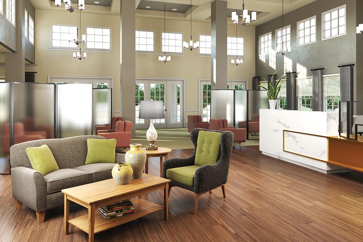 Senior Living visitation spaces