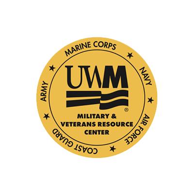 University of Wisconsin - Milwaukee Military & Veterans Resource Center logo