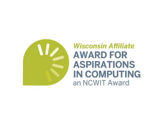wisconsin affiliate award for aspirations in computing an NCWIT Award logo