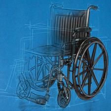wheelchair design sketch