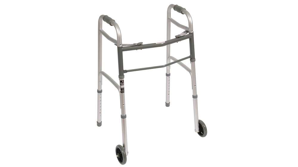 Mobility aids, like walkers, help with fall prevention in Senior Living.